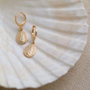 Petite Virgin Mary Earrings | 18k Gold Filled